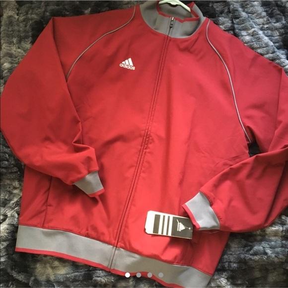 adidas fleece lined jacket
